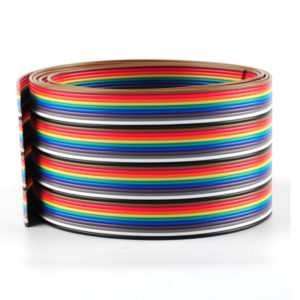 40pin Dupont Wire Flat Color Rainbow Ribbon Cable 2.54mm 1M 3.2ft