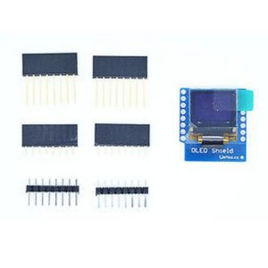 Mini 0.66 Inch 64X48 OLED Shield for WeMos D1 IIC/I2C SSD1306 IC Drive Oled Module 3.3V With Pins for Arduino